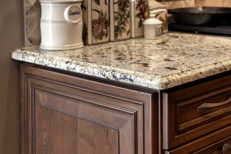 Granite kitchen countertop remodel in Upper Makefield, Pennsylvania