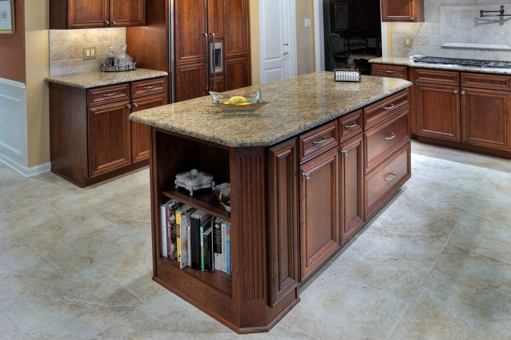 Feasterville Kitchen Island Countertop remodel